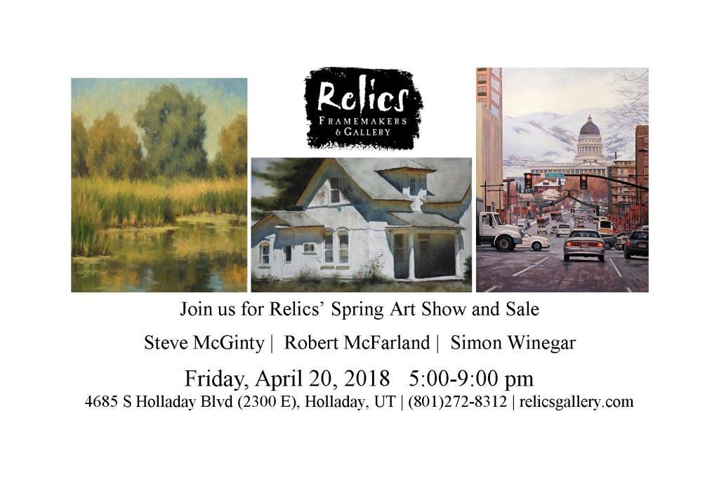 Spring Relic's Art Show Invitation
