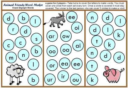 teaching resources animal word maker