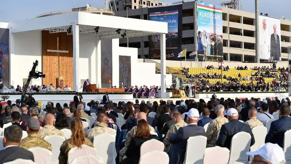 Misa del Papa Francisco en Erbil, capital de la autonomía kurda