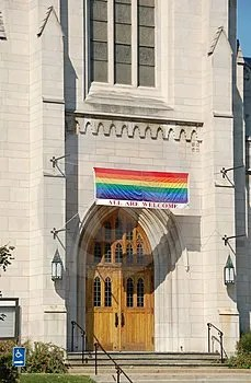 Church welcoming gay members to the congregation