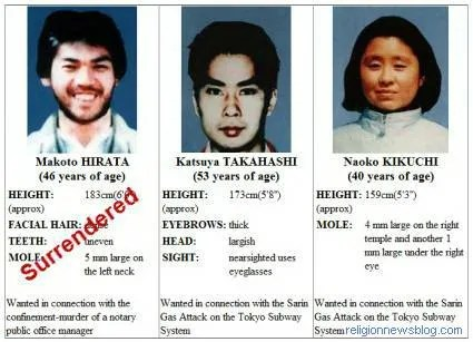 Aum Shinrikyo Most Wanted
