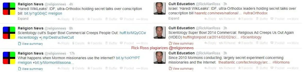 Religion News Blogs Twitter Feed Leeched By Rick Ross