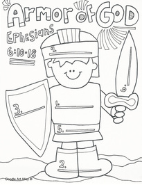 armor of god coloring page # 3