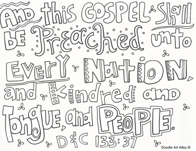 Missionary Work - Religious Doodles