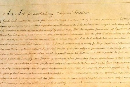 Virginia Statute of Religious Freedom of 1786 reminds us of the mutual benefits of church-state separation