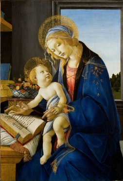 Sandro Botticelli - 'The Virgin and the Child' (Madonna of the Book)