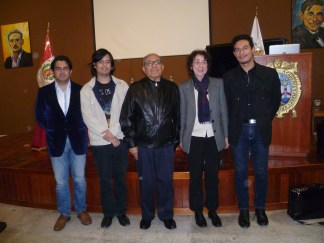 From left to right: Huaco, Castillo, Millones, Ortmann and Huerta. Photo by Alondra Oviedo.