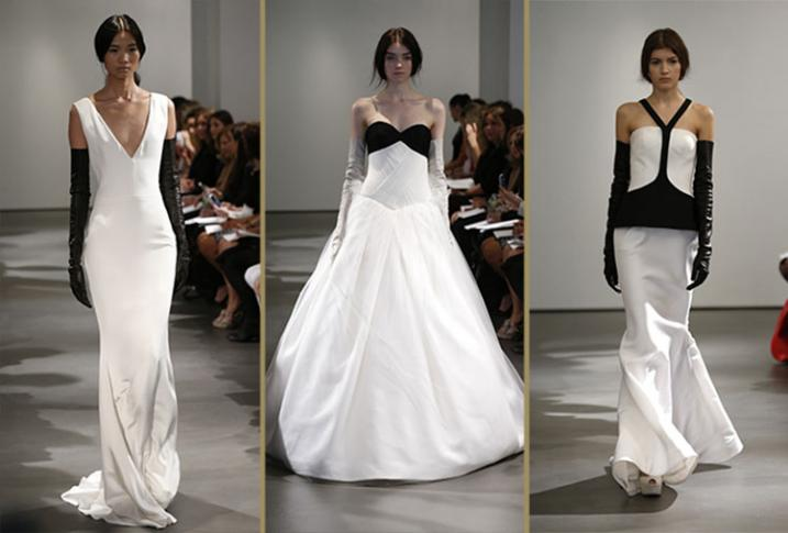 Vera Wang was inspired by lady-like gloves and I also loved her black accents on white gowns.  Her collections are always timeless and this year was no exception.
