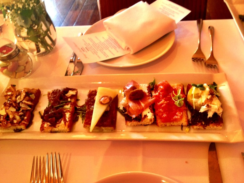 A beautiful crostini presentation