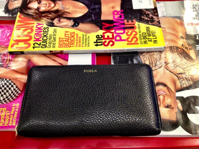 I'm loving my classic black leather FURLA wallet I bought a couple of weeks ago when I was in Paris.