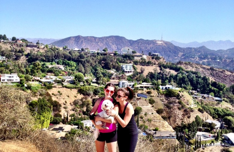 The top of Runyon Canyon