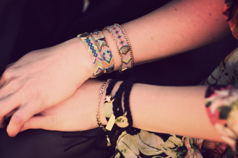 Here are a couple RELish friendship bracelets coming out this spring.  The leather RELish Your Charms wrap bracelet  on the left is already up in my store here.  The friendship bracelets featured on the right are part of my new line but I am currently taking custom orders.