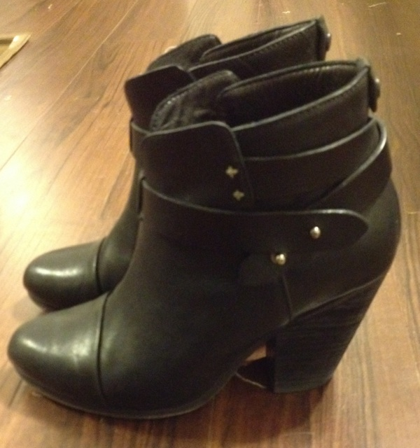 Here's a close-up picture of my Rag and Bone Harrow Booties.  I highly recommend them.