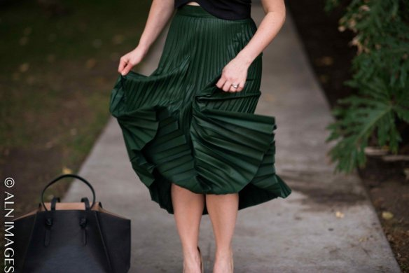 Green Holiday Skirt