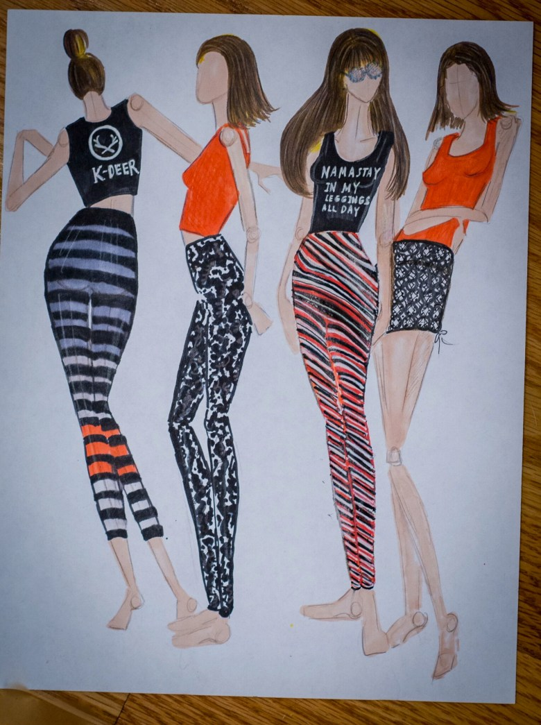 Kdeer Yogawear Illustration