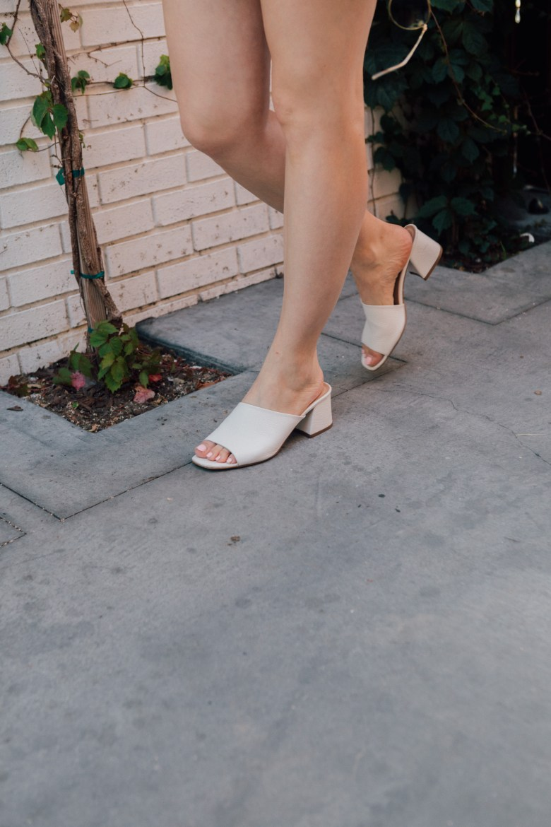 Lifestyle blogger Arielle Worona of Relish By Arielle wearing ASOS white sandals