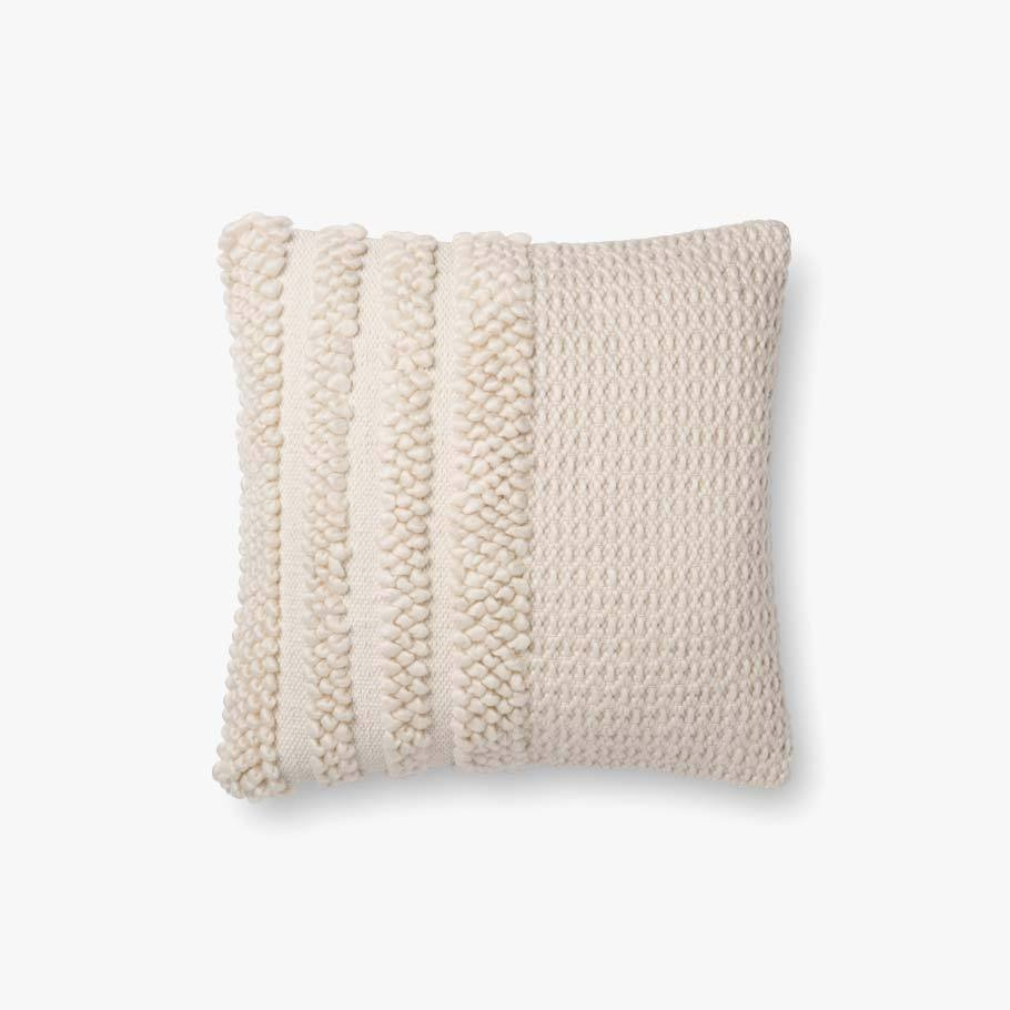 magnolia home x loloi cable pillow ivory set of 2
