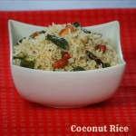 Coconut Rice/ Thengai sadham