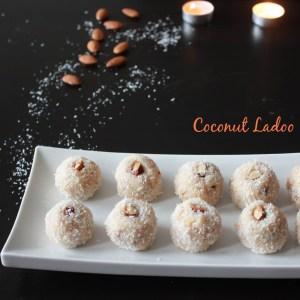 Coconut ladoo/Coconut sweet balls