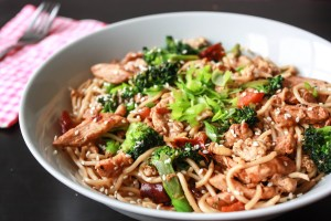 Spicy Chicken Stir Fry Egg Noodles