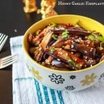 Honey Garlic Eggplant