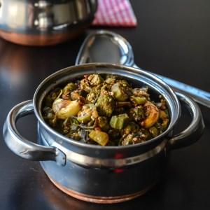 Garlic Okra/ Lahsuni Bhindi
