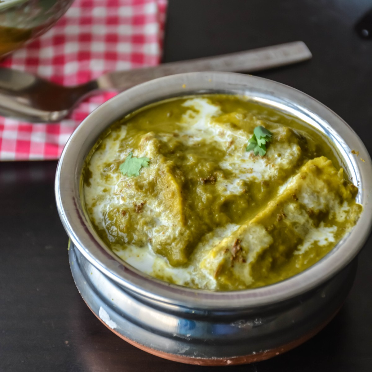 Palak Paneer Spinach With Indian Cheese Relish The Bite