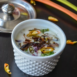 Fried Onion raita/ Yogurt dipping