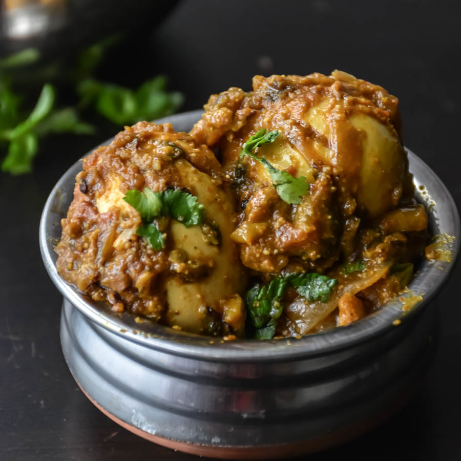 Quick simple egg curry in 20 minutes relish the bite eggs are simmered in spicy delicious indian gravy forumfinder Images
