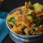 Spicy South Indian Potato Podimas /urulai kizhangu podimas