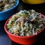Quick Mushroom Pepper Fried Rice