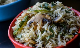 Quick Mushroom Pepper Fried Rice