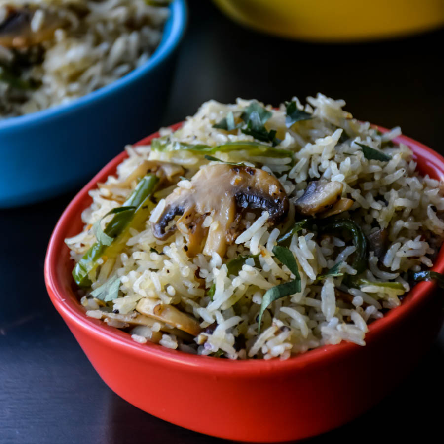 Mushroom Pepper Fried Rice-4
