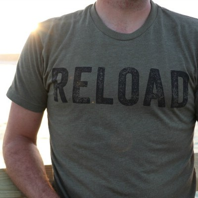 Reload Vintage T-Shirt in Military Green