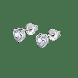 Pendientes corazon plata swarovski