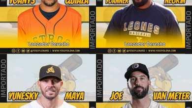 Photo of Las Águilas Cibaeñas anunciaron la contratación de cuatro lanzadores;