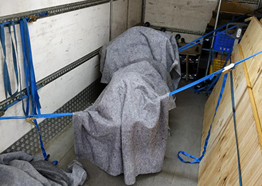 Wrapped items in storage