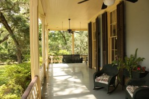 A front porch.