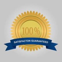 Satisfaction guaranteed label.