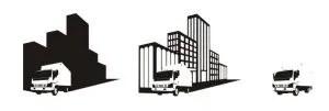 -illustration of moving trucks