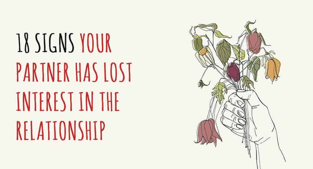 signs of loss interest in a relationship