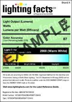 LightingFacts Example Label