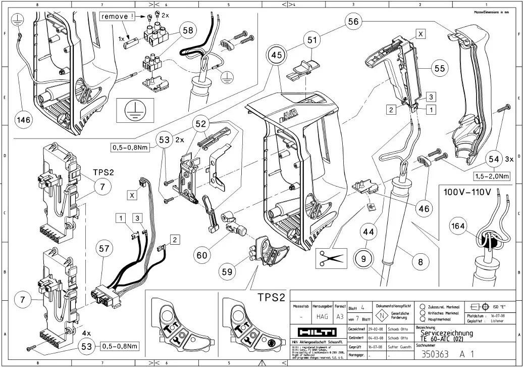 hilti te 60 spare parts list motorjdi co rh motorjdi co Hilti Tripod 25 Hilti Cordless 4 Tool Combo