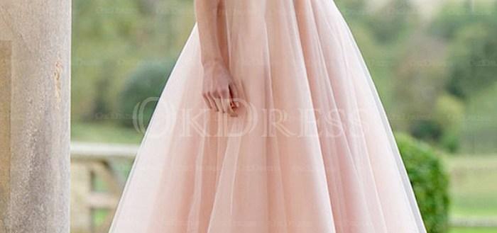 Concise A-line Princess Lace Tea-length Bridesmaid Dresses