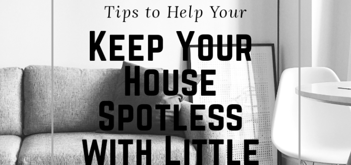 Tips to Help You Keep Your House Spotless with Little Effort