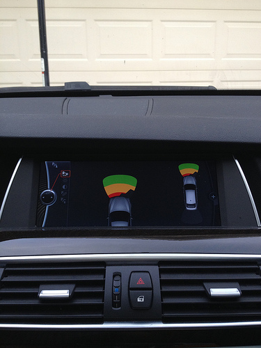 BMW 535i Gran Turismo parking sensor display