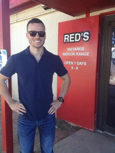 Me at Red's Shooting Range