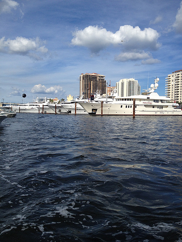Big yachts in Fort Lauderdale