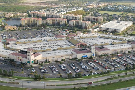 Orlando Premium Outlets from above - the only way you'll get in quickly...