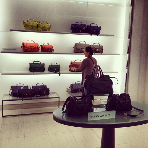 New Proenza Schouler handbags section at Nordstrom Tampa Bay